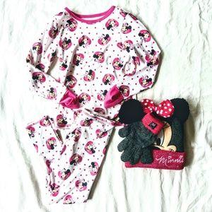 Minnie Mouse Hat/Mittens NWT & Cuddl Duds Bundle